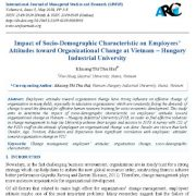 تأثیر ویژگی های اجتماعی و جمعیت شناختی بر نگرش کارمندان