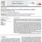 """<span itemprop=""""name"""">تاثیر قرنطینه  کوید۱۹ بر روی کنترل متابولیک در  افراد  مبتلا به دیابت نوع ۲ و افراد سالم</span>"""