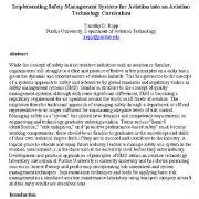 پیاده سازی سیستم های مدیریت ایمنی هواپیمایی در برنامه درسی (آموزشی) فناوری هواپیمایی