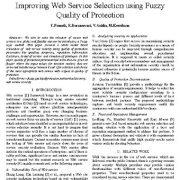 بهبود انتخاب سرویس وب با استفاده از کیفیت حفاظت فازی