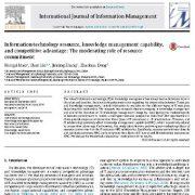 منبع تکنولوژی اطلاعات، قابلیت و ظرفیت مدیریت دانش، و مزیت رقابتی