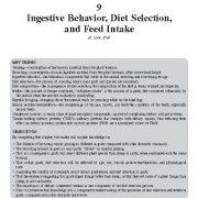 رفتار هضم، انتخاب رژیم غذایی، و مصرف خوراک ( بز )