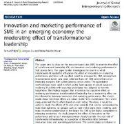 "<span itemprop=""name"">عملکرد نوآوری و بازاریابی SME در یک اقتصاد نوظهور: اثر تعدیل کننده رهبری تحول گرا</span>"