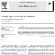 نوآوری، یادگیری سازمانی و عملکرد