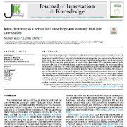 ابعاد بین خوشه ای به عنوان شبکه ی دانش و یادگیری: مطالعات موردی چندگانه