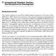 گردشگری داوطلبانه بین المللی: مکانیسمی برای توسعه