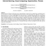 بانکداری اینترنتی، رایانش ابری: فرصتها و تهدیدها