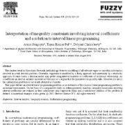 تفسیر قیود نابرابری شامل ضرایب بازه ای و راه حلی برای برنامه ریزی خطی بازه ای