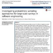 مطالعه و مرور روشهای نمونه برداری مبتنی بر احتمال در پرسشنامهها