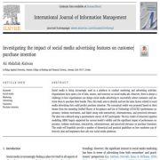 تأثیر ویژگیهای تبلیغاتی رسانههای اجتماعی بر قصد خرید مشتری
