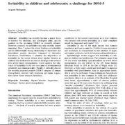 کج خلقی و زودرنجی در  کودکان و نوجوانان: چالشی برای DSM-5
