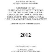 رأی شماره ۲۸۶۷ دادگاه بین المللی کار علیه صندوق بین المللی