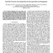 KnowNet: به سمت یک برنامه و طرح دانش برای مدیریت شبکه سازمانی