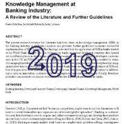 مدیریت دانش در صنعت بانکداری: مرور منابع و دستور العمل های آینده