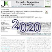 انتقال دانش در چارچوب و زمینهی شبکههای بین سازمانی