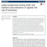 بهره وری نیروی کار در میان  بنگاه های مقیاس متوسط در اوگاندا: نقش نوآوری