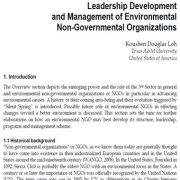 توسعه رهبری و مدیریت سازمان های زیست محیطی مردم نهاد