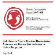 روابط بین بلایای طبیعی، کمکهای انسان دوستانه و کاهش خطر بلایا: دیدگاه انتقادی