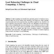 چالش های توازن بار در رایانش ابری : یک تحقیق پیمایشی