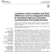 "<span itemprop=""name"">تنهایی، انزوای اجتماعی و تفاوت آنها: یک مطالعه تشخیصی در اختلال افسردگی مداوم</span>"
