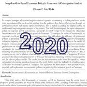 رشد بلند مدت و سیاست اقتصادی در کامرون: یک تحلیل همگرایی