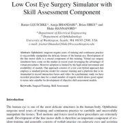 شبیه ساز جراحی چشم ارزان قیمت با ارزیابی مؤلفه مهارتی
