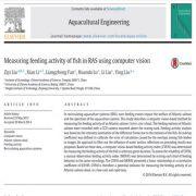 اندازه گیری فعالیت غذایابی ماهی در RAS با استفاده از بینایی کامپیوتری