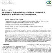 مکانیسم تحمل شوری در گیاهان: شناسایی ویژگیهای فیزیولوژیکی
