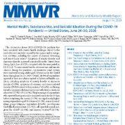 بهداشت روان، مصرف مواد و افکار خودکشی در طی شیوع COVID-19 – ایالات متحده
