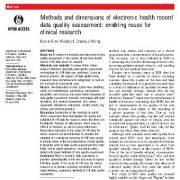 روشها و ابعاد ارزیابی کیفیت دادههای پروندههای سلامت الکترونیک