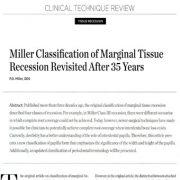 بازنگری طبقه بندی تحلیل بافت مارژینال میلر پس از ۳۵ سال