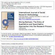 تلفیق روش ها: ورود رویکرد های کمی و کیفی به فرایند تحقیق