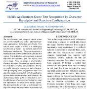 تشخیص متن صفحه برنامههای موبایل با توصیف گر کاراکتر و پیکربندی ساختار