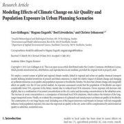اثرات مدل سازی تغییر اقلیم بر کیفیت هوا و مواجهه جمعیت
