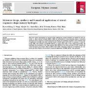 """<span itemprop=""""name"""">طراحی مولکولی، سنتز و کاربردهای زیست پزشکی هیدروژل های حافظه شکل حساس به محرک</span>"""
