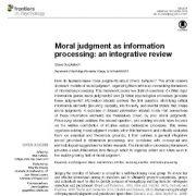 قضاوت اخلاقی به عنوان پردازش اطلاعات: یک مقاله مروری یکپارچه