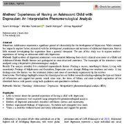 تجربه مادران نوجوانان افسرده: تحلیل پدیدار شناختی تفسیرگرایانه