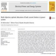 تخصیص بهینه چند منظوره محدود کننده های جریان خرابی در سیستم قدرت