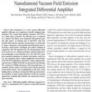 تقویت کننده تفاضلی (دیفرانسیلی) تلفیقی تابش میدانی خلا نانو الماس