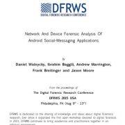 تحلیل شبکهای و قانونی برنامههای پیام رسانی اجتماعی اندروید