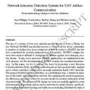 سیستم تشخیص نفوذ شبکه برای ارتباطات موقت پهپاد