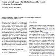 کنترل هیبریدی یا ترکیبی قوی مبتنی بر شبکه عصبی