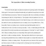 رویکردهای جدید برای آموزش حسابداری آنلاین