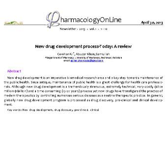مروری بر فرایند  تولید داروی جدید