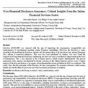 تضمین افشای غیر مالی: بینش های  انتقادی از بخش خدمات مالی ایتالیا