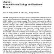 نظریهی اکولوژی عدم تعادل و تاب آوری