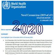 کروناویروس جدید (۲۰۱۹-Ncov)،گزارش وضعیت-۱