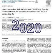 کروناویروس SARS-CoV-2 و COVID-19.   توصیه های عملی برای بیهوشی زایمان