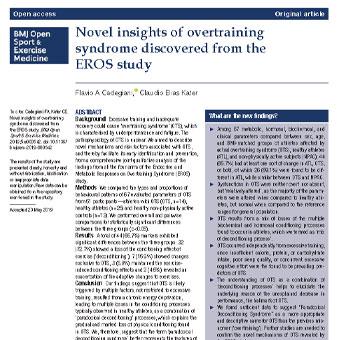دیدگاه و بینش های جدید  مربوط به سندرم بیش تمرینی براساس مطالعه  EROS