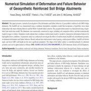 شبیه سازی عددی رفتار تغییر شکل (دفورماسیون)